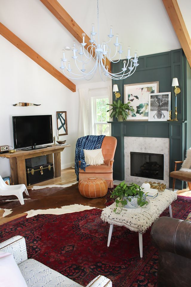 layered living room reveal