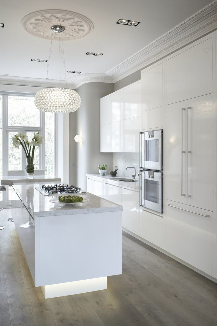 White Lacquered cabinetry built to the proportions of this Edwardian Villa in Blackheath, London. Chamber Furniture, The Old Timber Yard, London Road, Halstead, Kent, TN14 7DZ United Kingdom. Tel 01959 532 553. www.chamberfurniture.co.uk