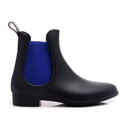 Slip BOOTS, wellingtons, blue-black, fashionable http://cosmopolitus.com.pl/product-eng-32731-Slip-BOOTS-wellingtons-blue-black-fashionable.html #waders #high #rubber #boots #Jodhpur #boots #trendy #matt #lacquered