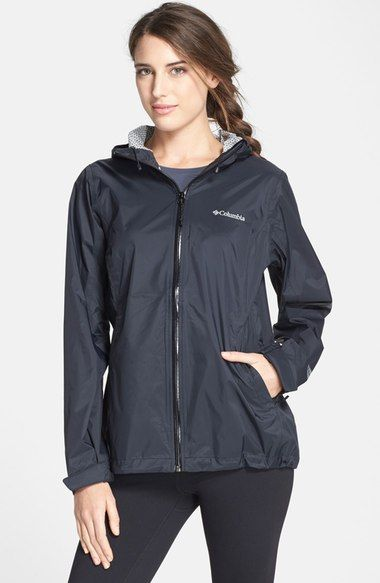 Columbia 'EvaPOURation' Modern Classic Fit Packable Waterproof Rain Jacket available at #Nordstrom