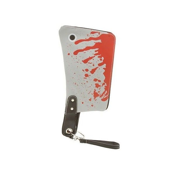 Bloody Cleaver Clutch Hatchet Knife Kreepsville 666 Halloween Horror... ($35) ❤ liked on Polyvore featuring bags, handbags, clutches, handbags clutches, kreepsville 666, handbags purses, hand bags and man bag