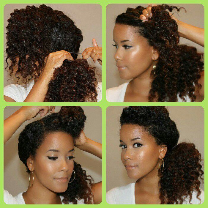 Side ponytail for Ash!!! Beautiful Natural Hair Pinterest Updo ...