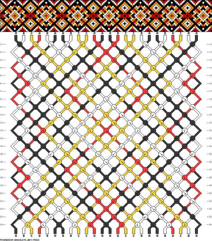 Muster # 75863, Streicher: 24 Zeilen: 24 Farben: 4