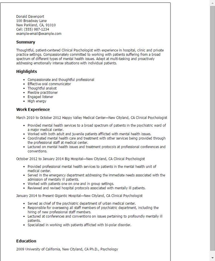 Great Perfect Cv Template Idea cv template psychology 1 cv
