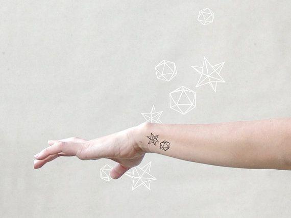 Geometric Gems Temporary Tattoo