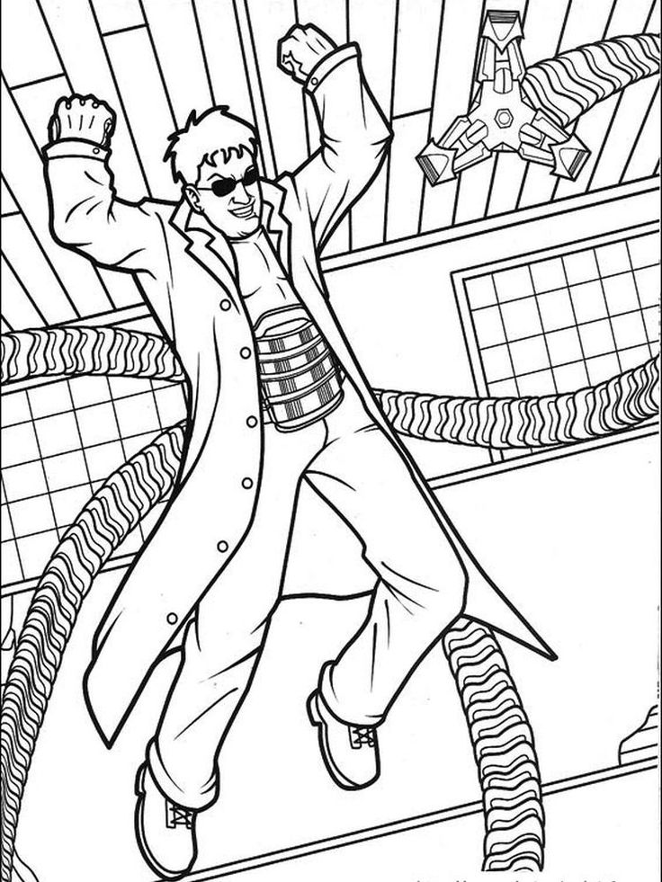 Spider Man in 2020 Octopus coloring page
