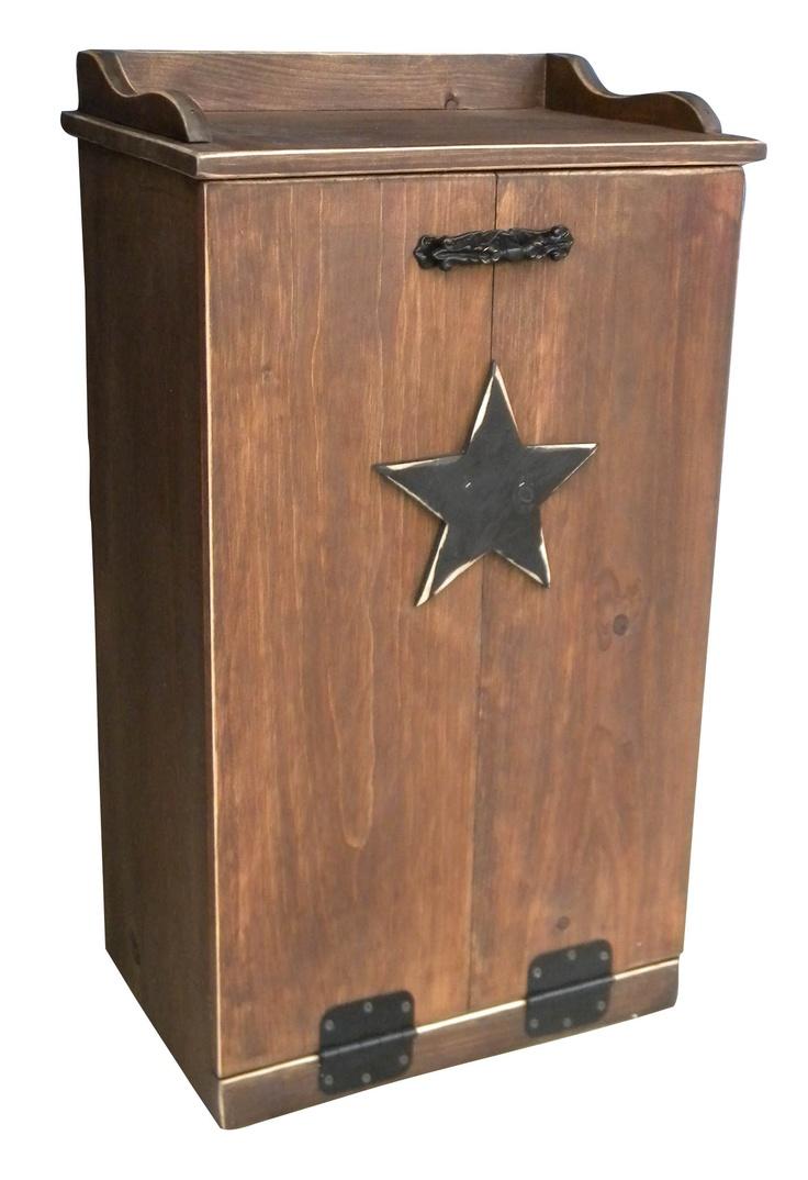 Decorative Wooden Kitchen Trash Cans 95 best trash bins images on pinterest | trash bins, primitive