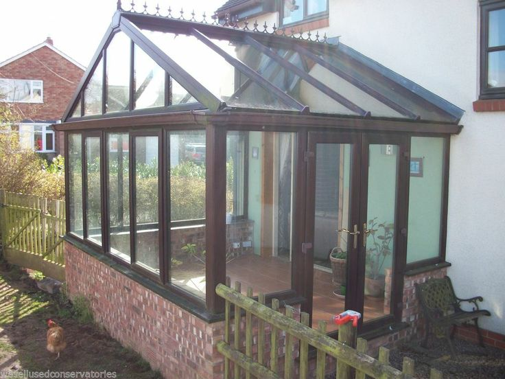 Used Pvcu Rosewood Upvc Conservatory 3990 mm x 3140 mm with Glass Roof