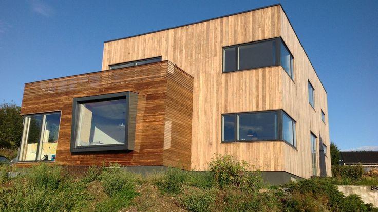passive house using wood cladding