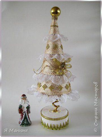 Бонсай топиарий ёлка Свит-дизайн Новый год Моделирование конструирование Скоро Новый год Бумага гофрированная фото 2