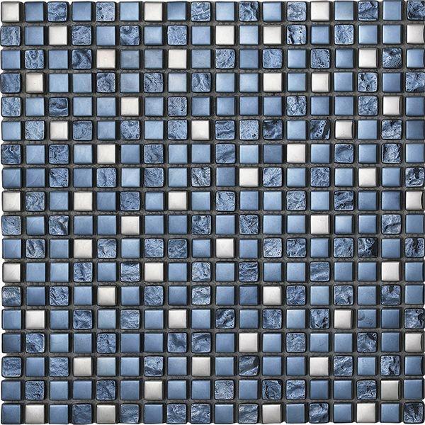 Konradssons Kakel Lagos chrome glasmosaik 1,5x1,5 mm (nät 30x30 cm) | Stonefactory.se