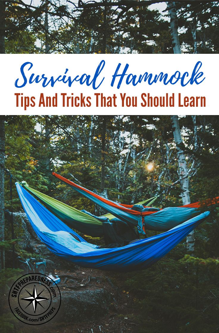 Survival Hammock Tips And Tricks That You Should Learn —Sleep is one of the most underrated aspects of emergency preparedness and it's still overlooked in many survival scenarios. Learning a few tips and tricks for your survival hammock will make sure your get the sleep you are looking for while camping in the wilderness.
