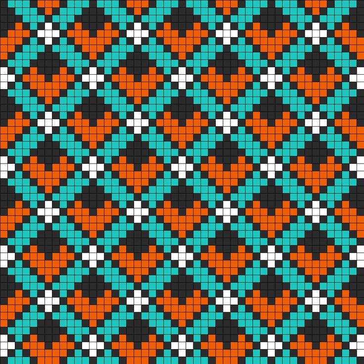 Art Deco Perler Bead Pattern