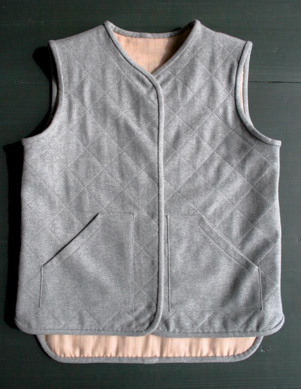 quilted-wool-vest-tutorial with free pattern - Purl Soho