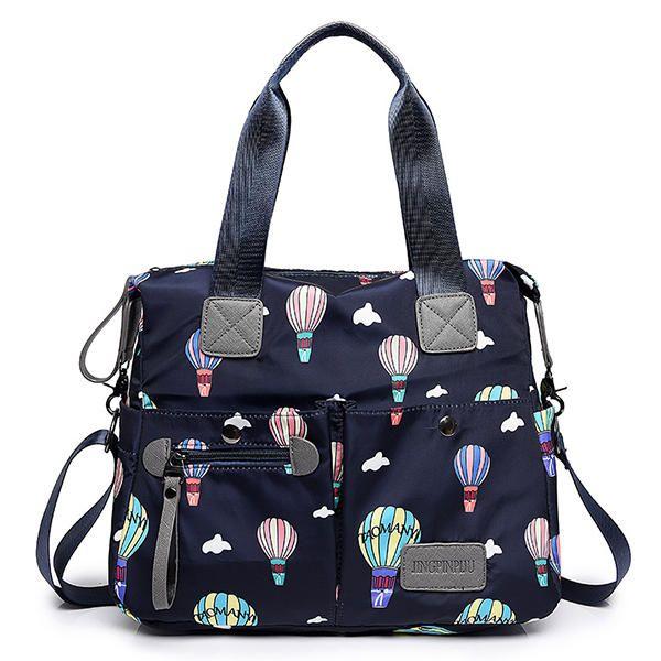 Women Nylon Multi Pocket Waterproof Lightweight Handbag Shoulder Crossbody Bag - US$36.14