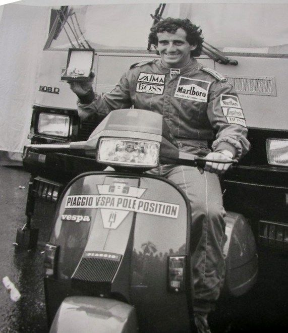 Alan Prost on Vespa T5
