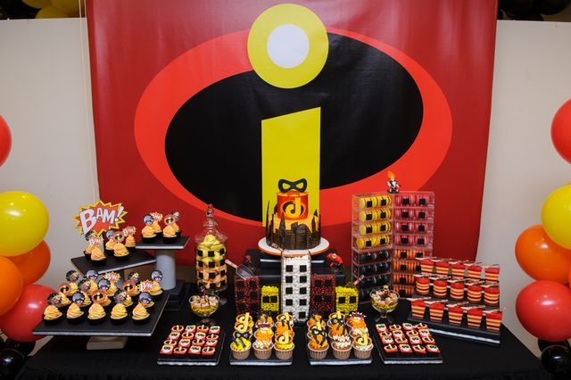 Amazing Incredibles boy birthday party!  See more party ideas at CatchMyParty.com!