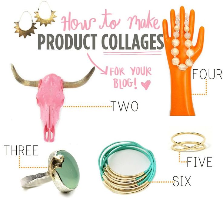 Create custom product collages of your favorite things via @Elsie Larson of A Beautiful Mess www.abeautifulmess.com