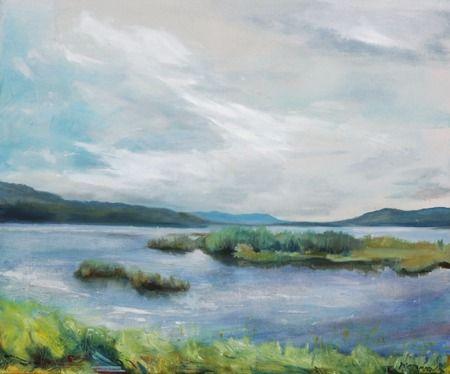 Lipno IX, oil painting 50 x 60 cm, 3 000,- Kč