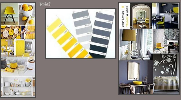 salon jaune gris deco pinterest salons. Black Bedroom Furniture Sets. Home Design Ideas