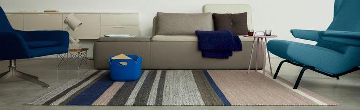 Het karpet type limoen met streep en kleur invulling naar wens. Het karpet zorgt voor een eenheid en warmte in het interieur.