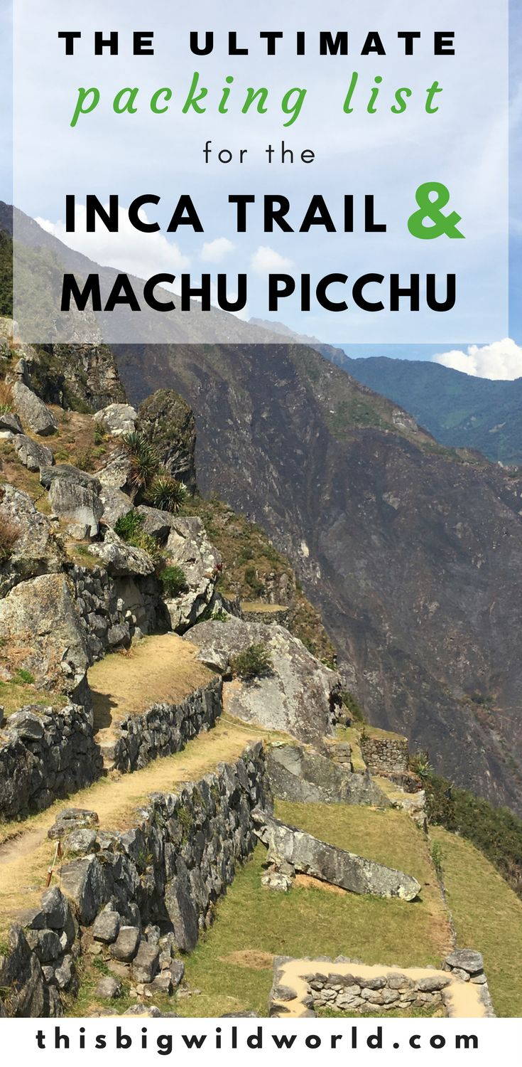 Wondering what to pack for the Inca Trail Trek to Machu Picchu? Here's my Inca Trail packing list including what I'd do differently!