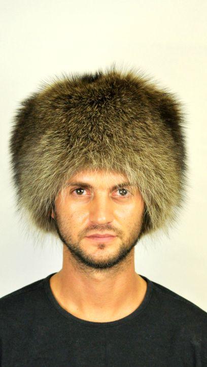 Cappello in pelliccia di vero procione  www.amifur.it