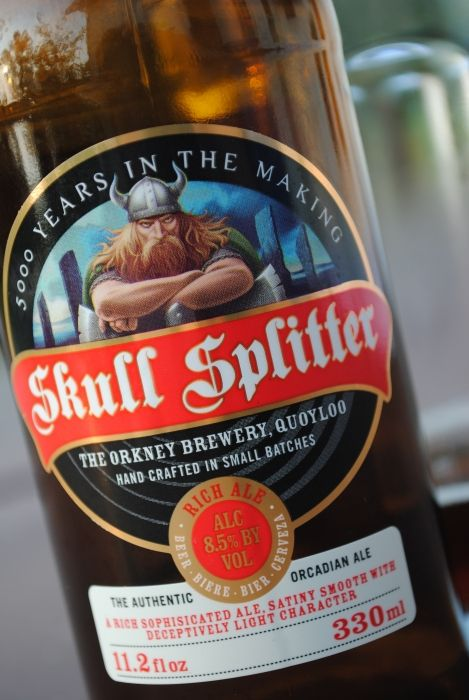 Scull Spiltter Beer named after Thorfinn Einarsson who was the 7th Viking Earl of Orkney