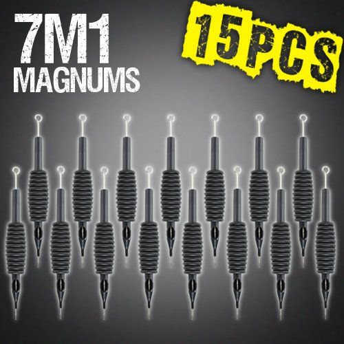 Z ZTATO 15pcs 7M1 Mag Magnum Disposable Tattoo Needles 34 Grip Tube Tip Sterilized *** You can get additional details at the image link. Note:It is Affiliate Link to Amazon.