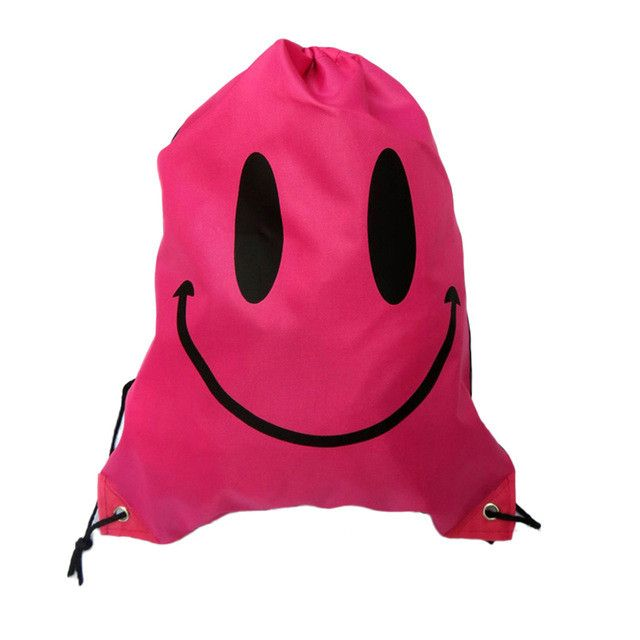 Smile Face Drawstring Bag Mochila Functional Bags School Bags For Girls And  Boys Cartoon Kids Backpack