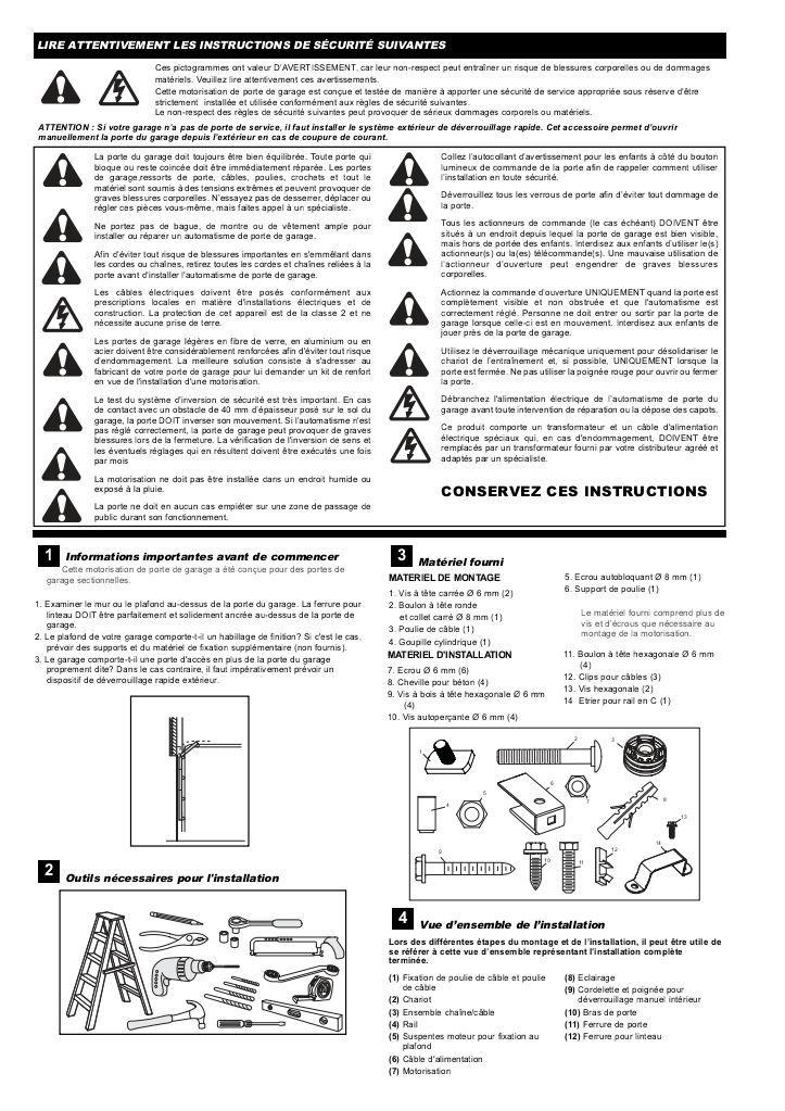 Notice technique – Automatisme PP60 pour porte ... - Wayne Dalton-Notice technique – Automatisme PP60 pour porte ... - Wayne Dalton