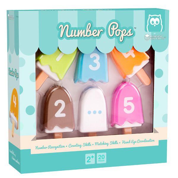 Number pops helados y números
