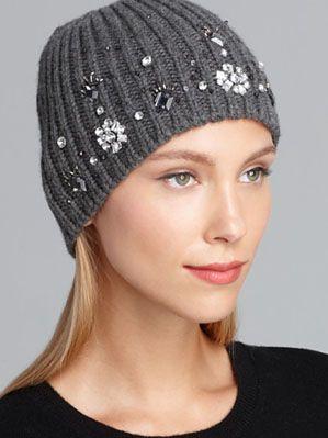 kate spade new york Snowed In Embellished Hat
