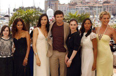 Famke Janssen, Halle Berry, Anna Paquin, Rebecca Romijn, Hugh Jackman, Ellen Page and Dania Ramirez at event of X-men - La batalla final (2006)