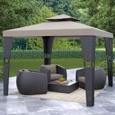 "Found it at Wayfair - Riverside 9' 6"" H x 9' 10"" W x 9' 10"" D Gazebo"