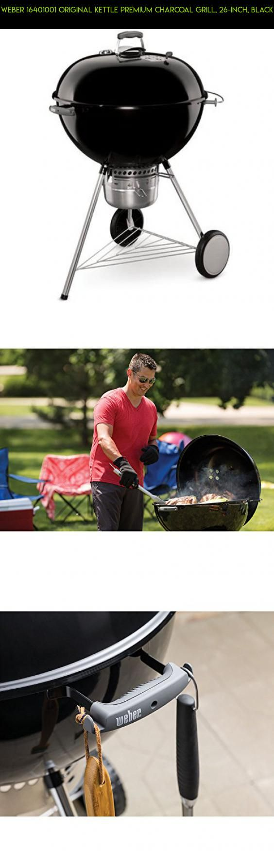 Weber 16401001 Original Kettle Premium Charcoal Grill, 26-Inch, Black #grills #parts #racing #fpv #products #drone #shopping #technology #charcoal #plans #gadgets #tech #weber #camera #kit