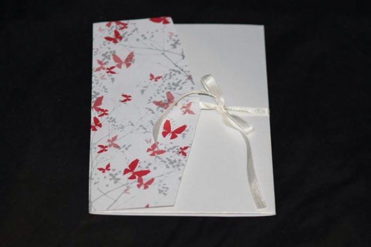 A personal favourite from my Etsy shop https://www.etsy.com/listing/198035764/red-butterfly-fold-out-invitation