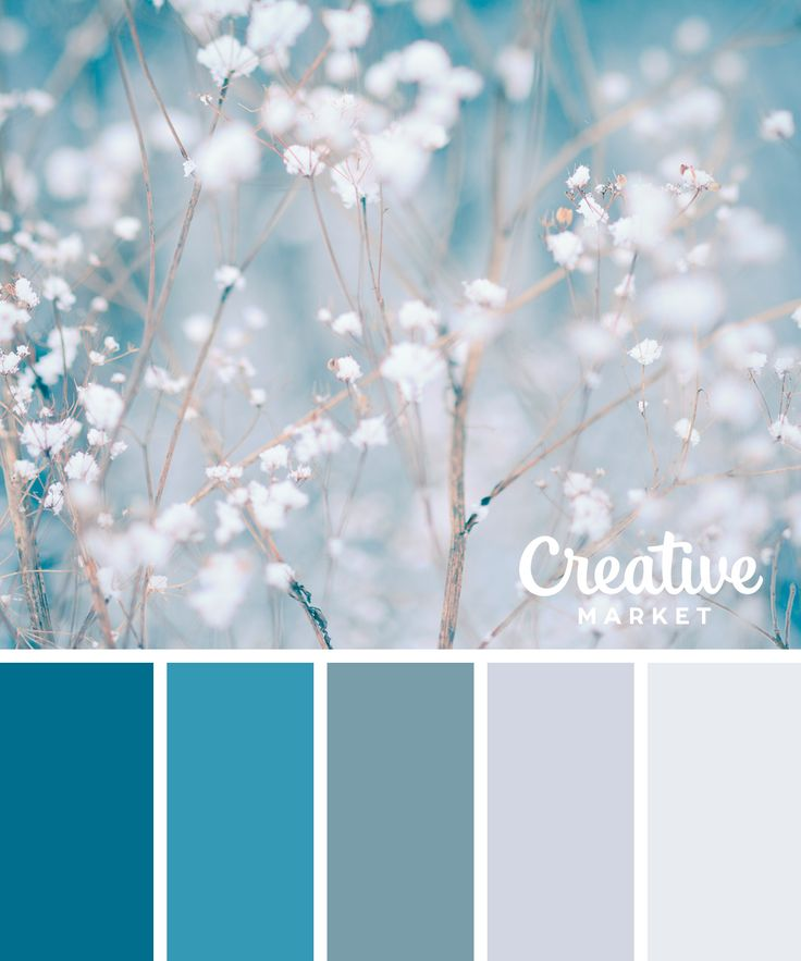 'Tis the season for frosty hues to get inspired. Whether it's for graphic design, fashion or home decor, these 15 color palettes will guide your Winter creativity.