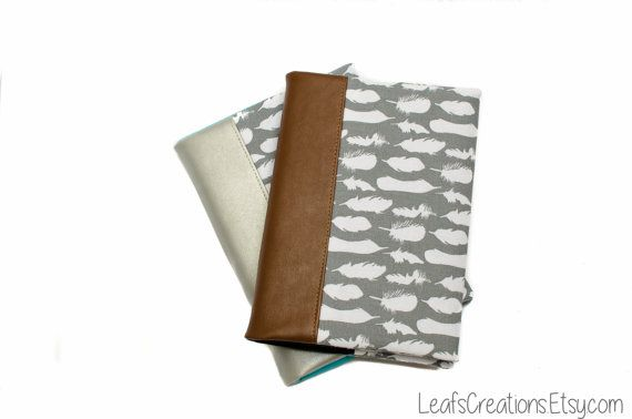 Notebook cover Journal cover Fabric book cover Travelers notebook Travel journal LeafsCreations