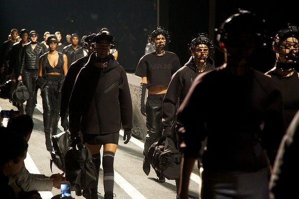 The high energy fashion show for the Alexander Wang for H&M collection #AlexanderWangxHM