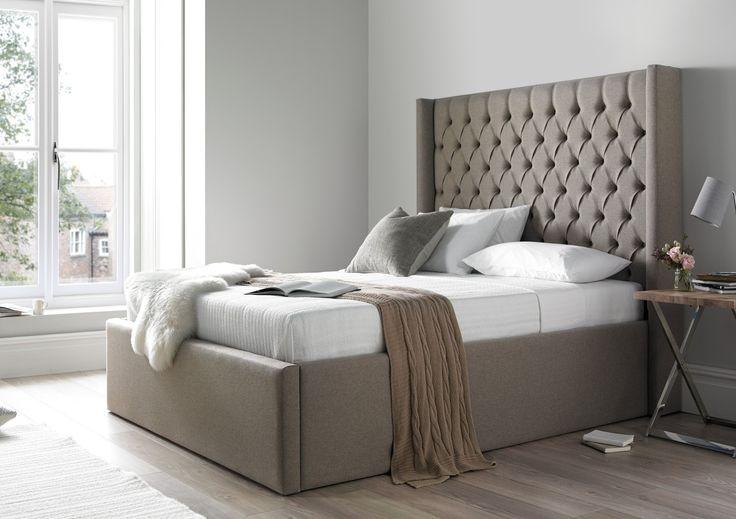 Best 25 upholstered bed frame ideas on pinterest tufted for Diy ottoman bed frame