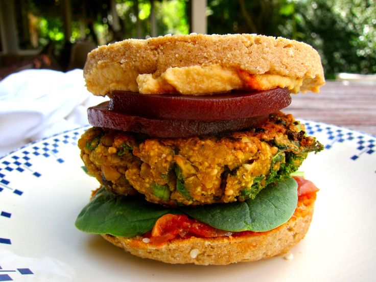 Portobello Mushroom Burger Patties with Lupin Flakes