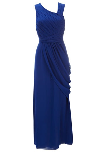 Blue Grecian Maxi dress - perfect for my bridesmaids!