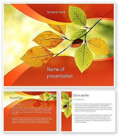 http://www.poweredtemplate.com/11208/0/index.html Branch with Yellow Leaves PowerPoint Template