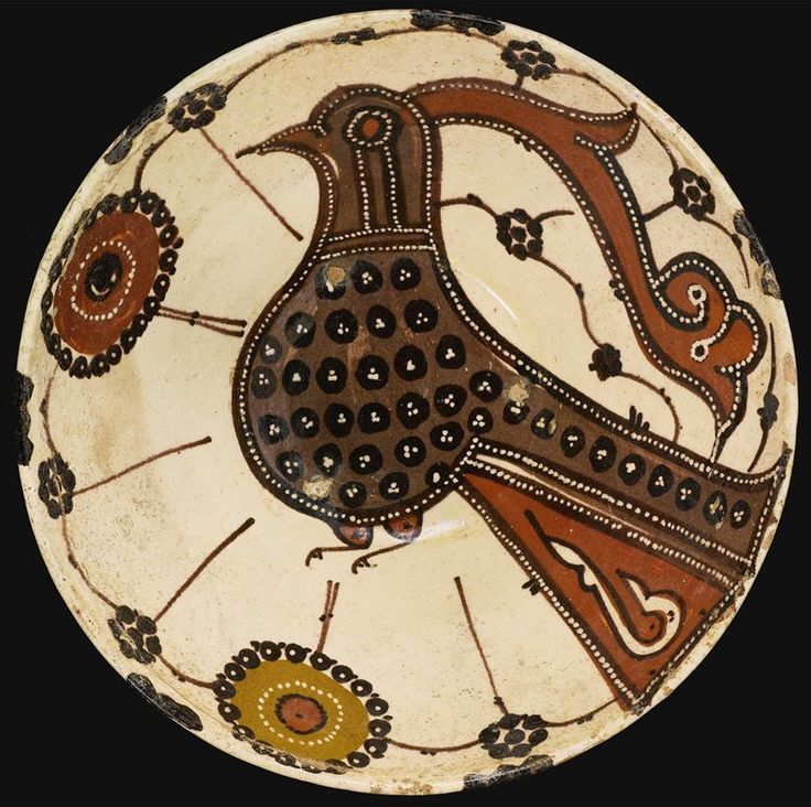 A Sari ware pottery bowl depicting a bird, Northern Persia, 10th/11th century