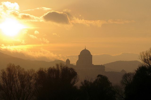 "ESZTERGOM was the capital of Hungary from the 10th to the mid-13th century, when King Béla IV of Hungary moved the royal seat to Buda. Photo ""Esztergom Sunrise"" by flickr user tamasmatusik."