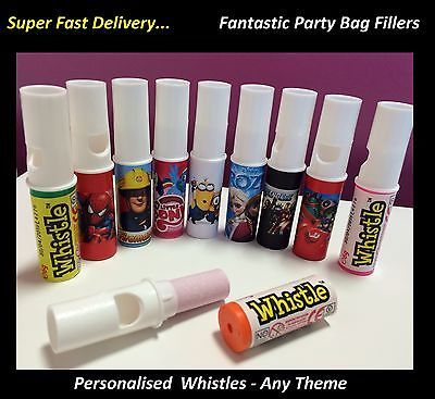 10 - 40 x #personalised #candy whistle sweets #birthday party bag filler swizzel ,  View more on the LINK: 	http://www.zeppy.io/product/gb/2/291852765338/