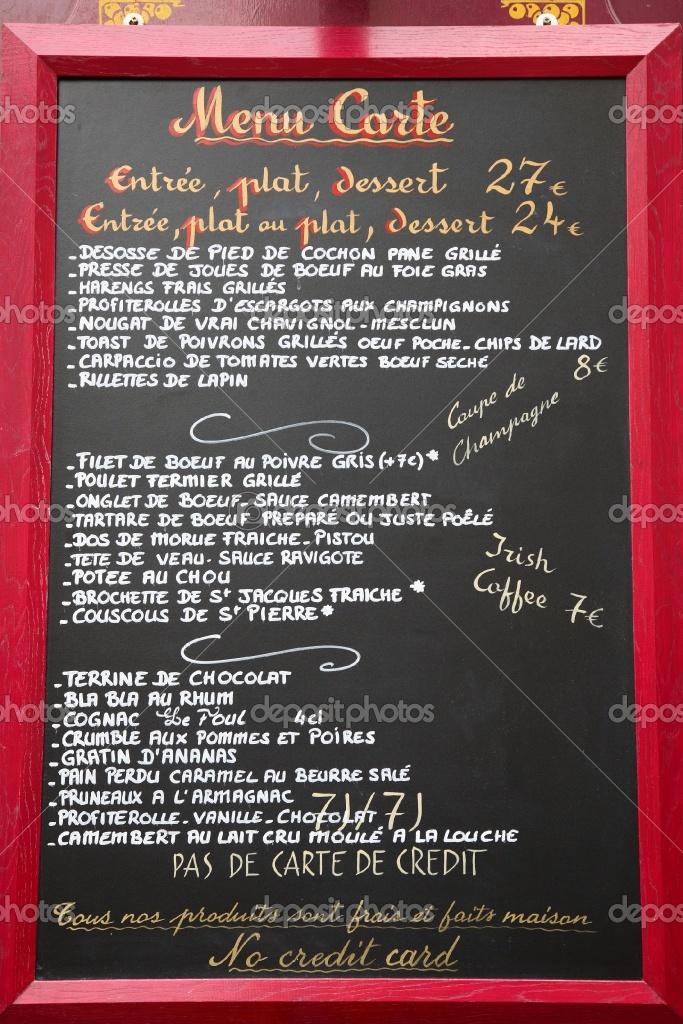 38 best Menus Français images on Pinterest French classroom - french menu