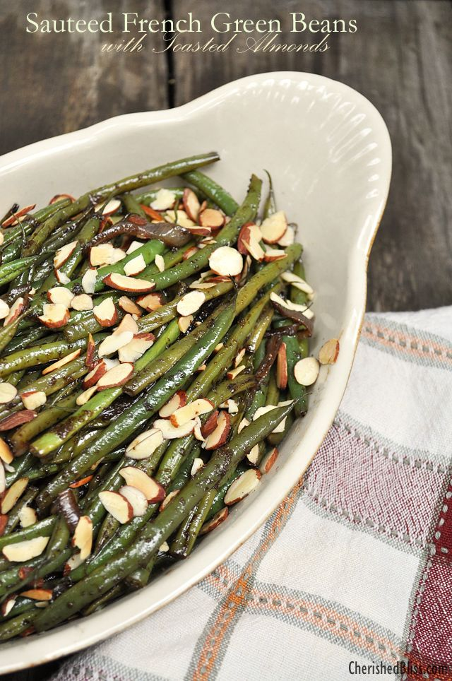 navy blue and white shoes Sauteed French Green Beans with Toasted Almonds