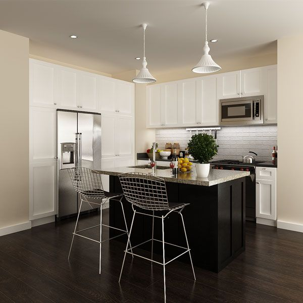 kitchen cabinets, solid wood, white, OP14-S08